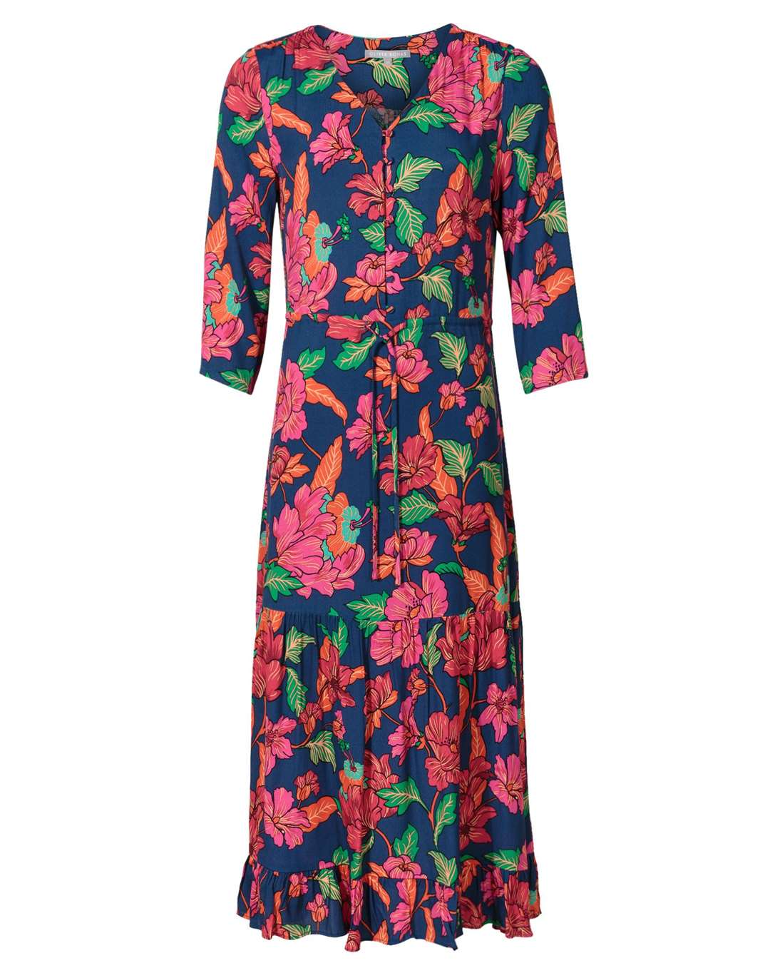 PRINTS Oliver Bonas Bright Blue Floral Print Dress, £75 (13640661)