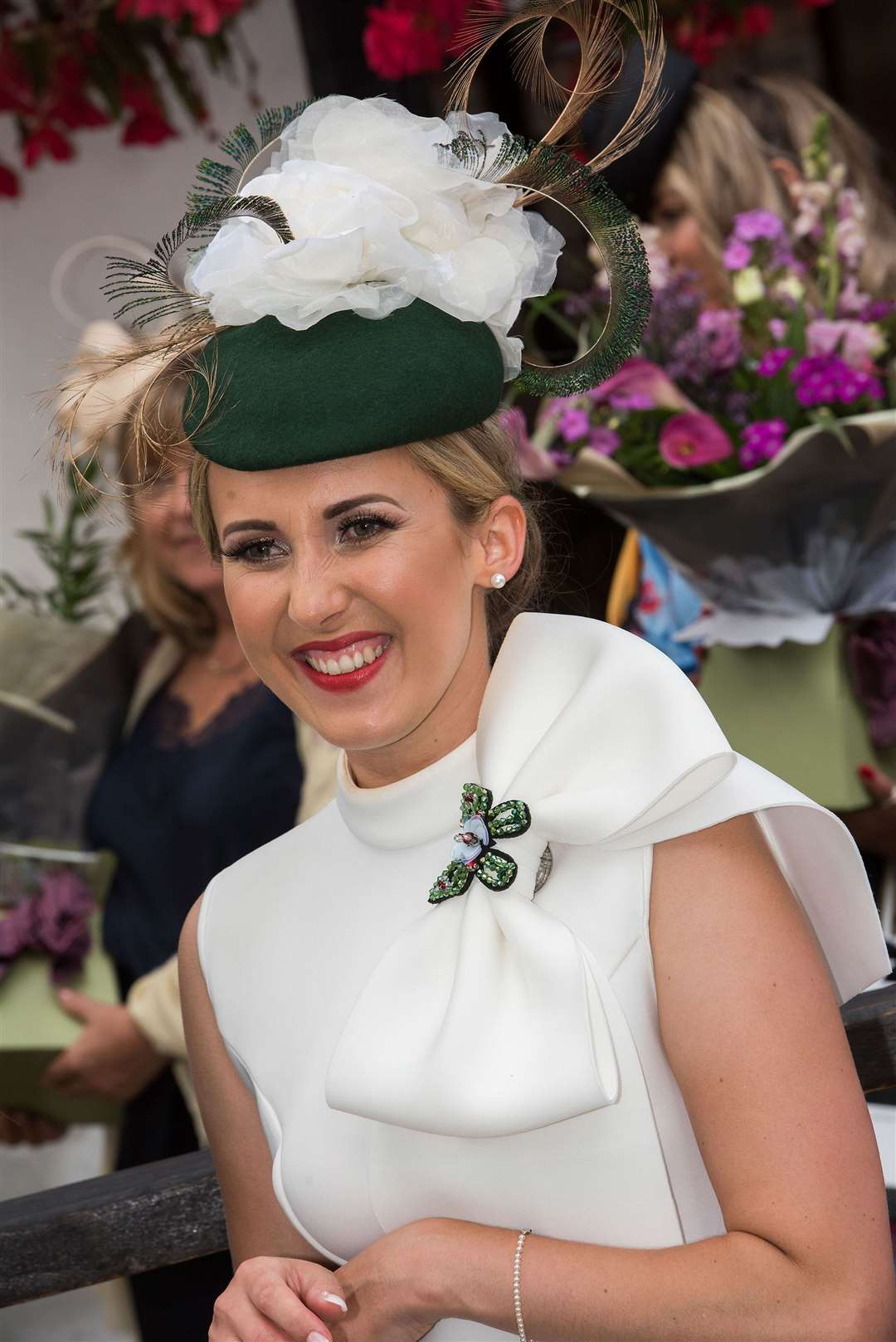 Newmarket July Course Ladies Day 2019Natalie White, of Newmarket, who won Best Dressed Lady at Ladies Day Picture by Mark Westley. (13824115)