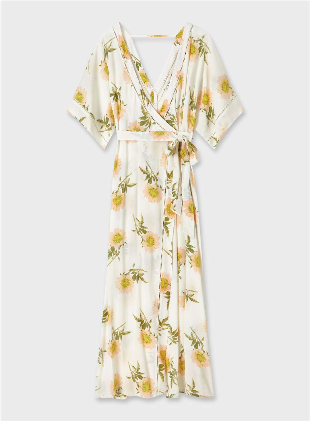 STATEMENT DETAILS Miss Selfridge Ivory Floral Print Kimono Sleeve Maxi Dress, £45 (13640689)