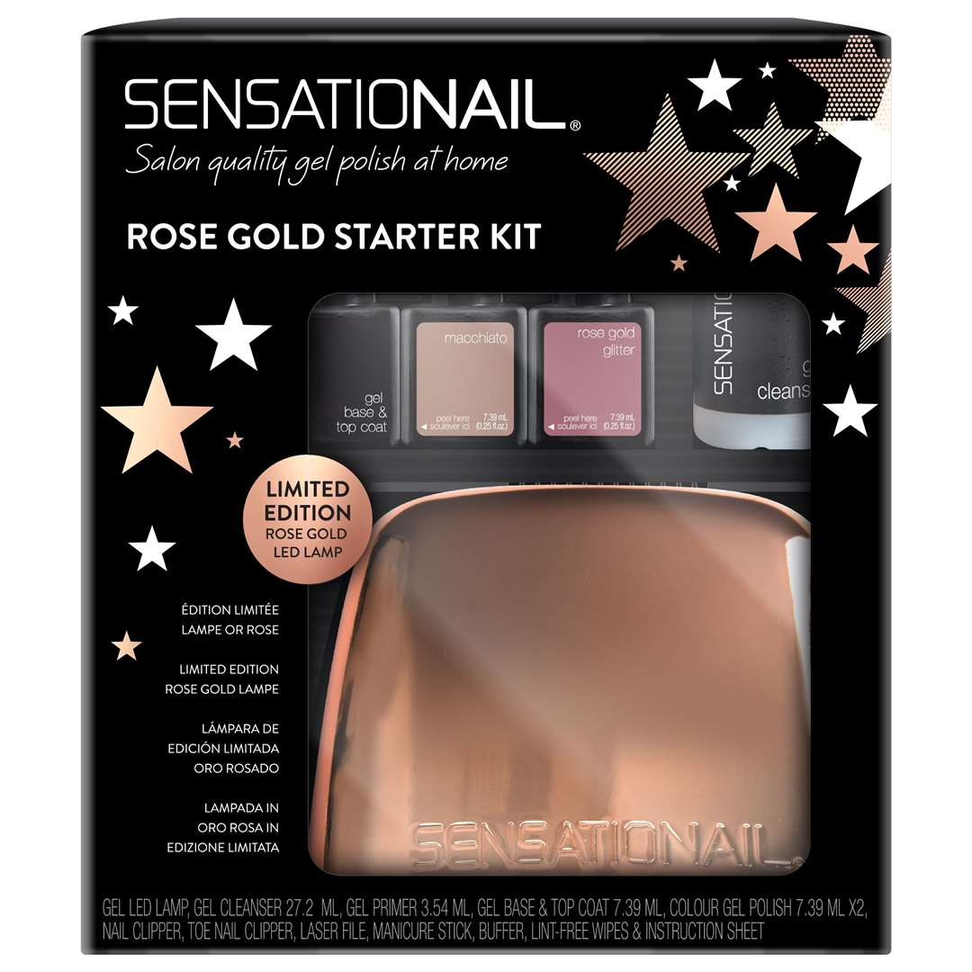 SensatioNail Rose Gold All Stars Gel Polish Starter Kit, £79.99, selected Boots stores and boot.com (22118027)