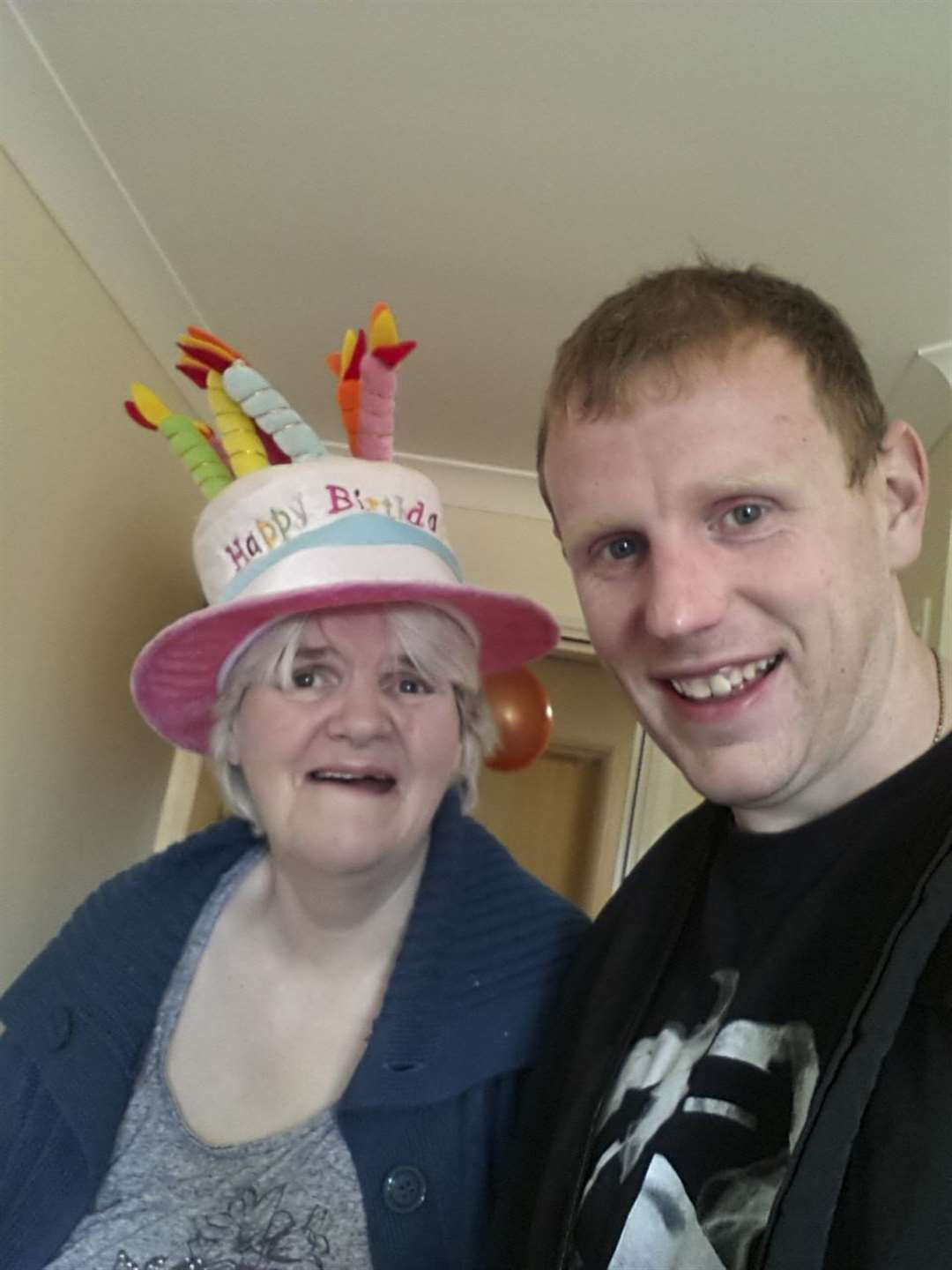 VELVET: Frontotemporal dementia (FTD) (SUBMITTED PHOTOGRAPHS) James, 37, from Soham seen here with his mum, Anne (64), who is living with frontotemporal dementia (FTD). Her symptoms started in her early 40s, but she was only diagnosed age 58 (in 2012). Picture: Keith Heppell. (7199055)
