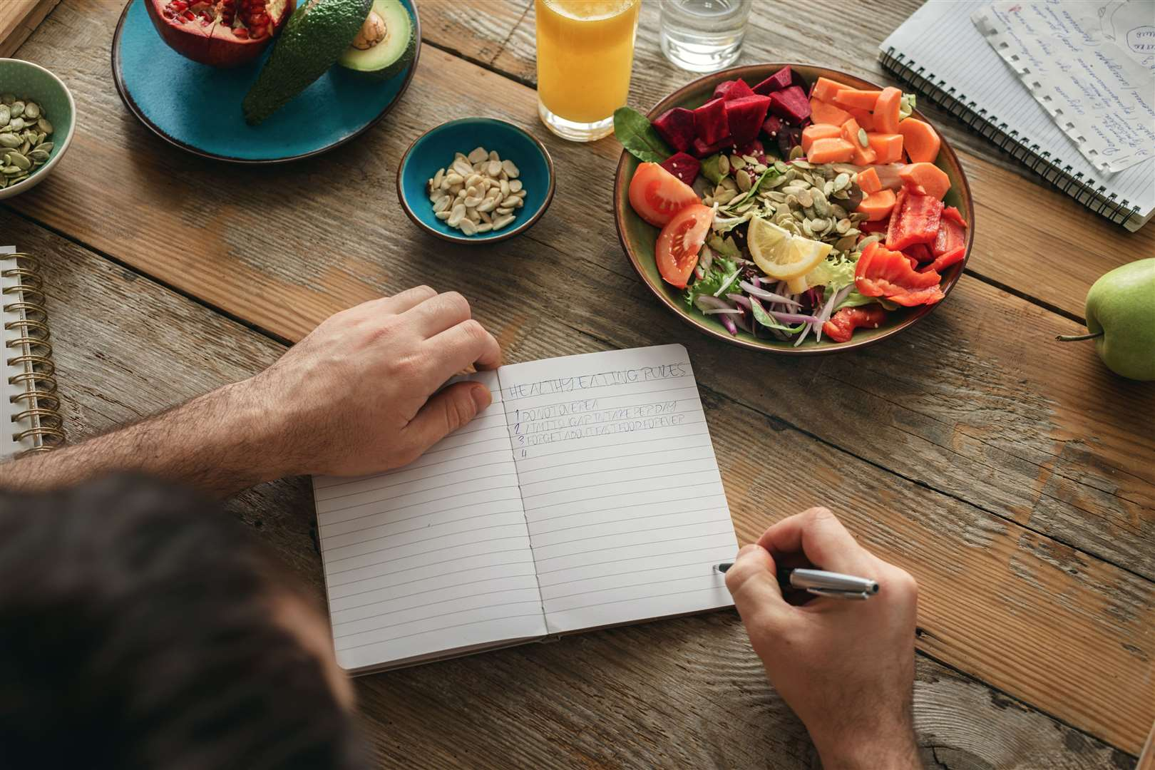 How to achieve good nutrition - write a food list(18507587)